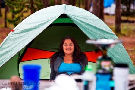 Kristi Trimmer Camping
