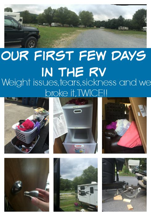 Our First Few Days in the RV