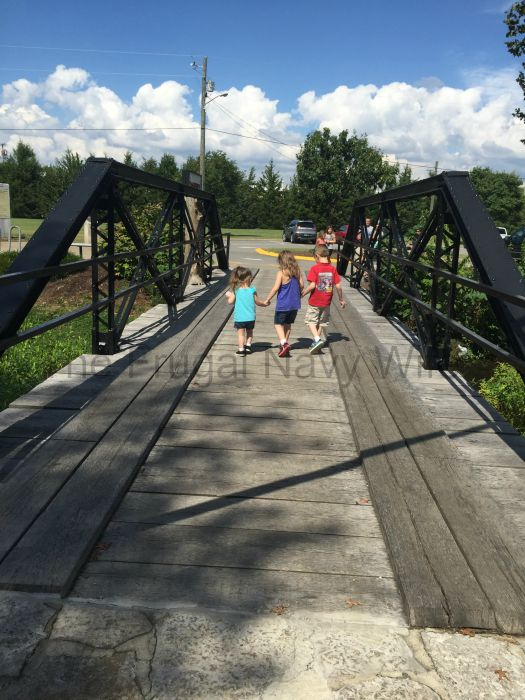 Cannonsburgh Village Murfreesboro, Tennessee Kids and Bridge
