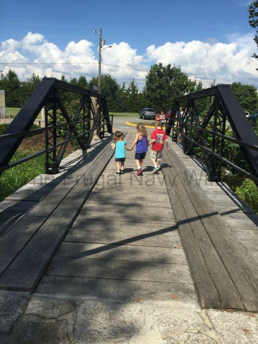 Cannonsburgh Village Murfreesboro, Tennessee Kids and Bridge