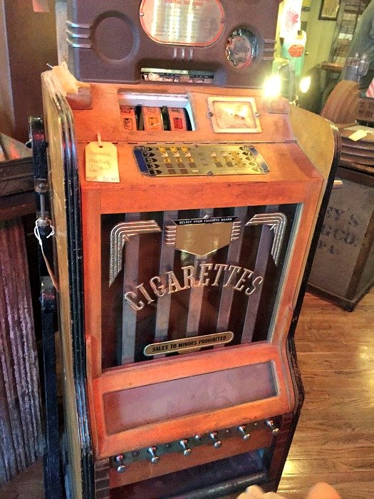 Antique Archaeology and Surrounding Shops – Nashville, Tennessee Cigerette Dispenser