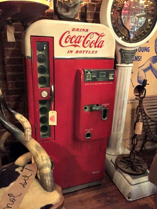 Antique Archaeology and Surrounding Shops – Nashville, Tennessee Coke Machine