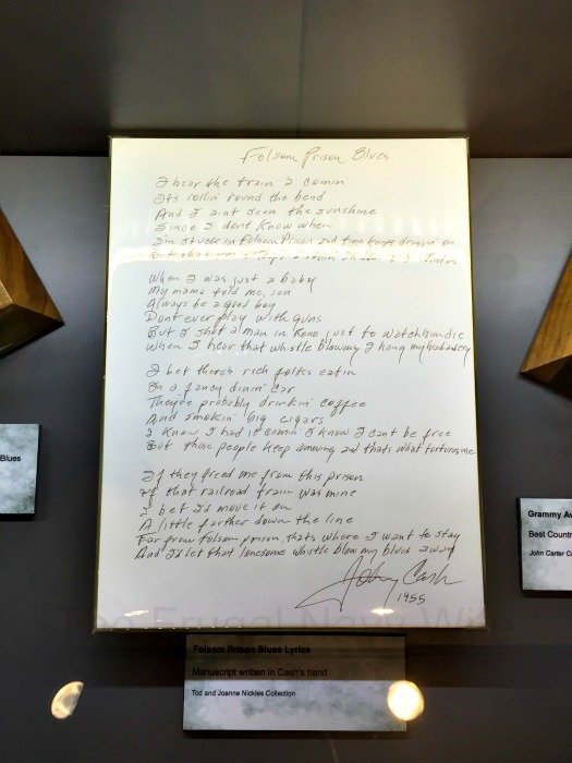 Johnny Cash Museum – Nashville, Tennessee Folsom Prision Blues