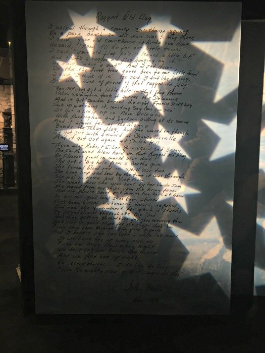 Johnny Cash Museum – Nashville, Tennessee Old Flag