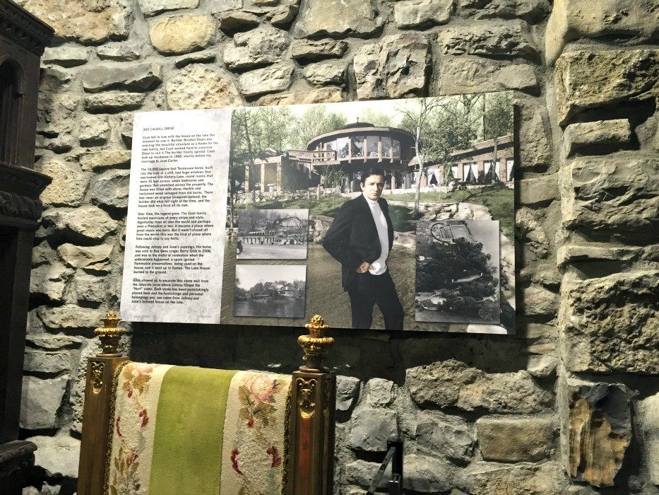 Johnny Cash Museum – Nashville, Tennessee Picture on hosue wall