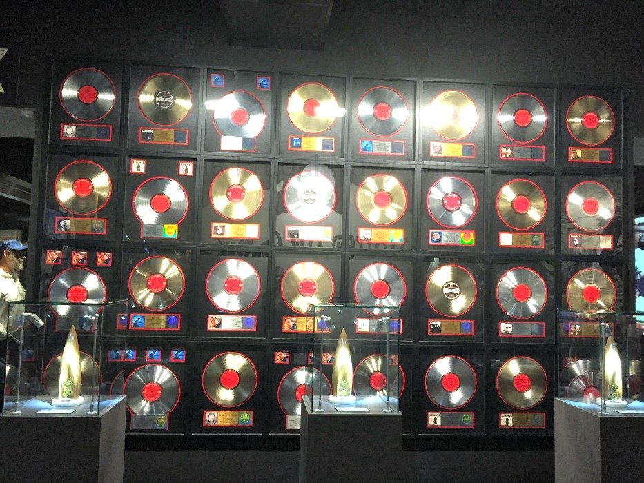 Johnny Cash Museum – Nashville, Tennessee Record Wall