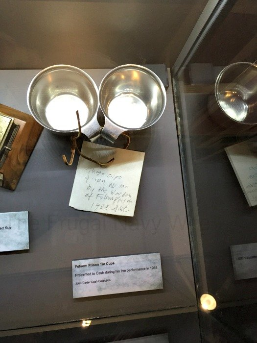 Johnny Cash Museum – Nashville, Tennessee Prision Cups