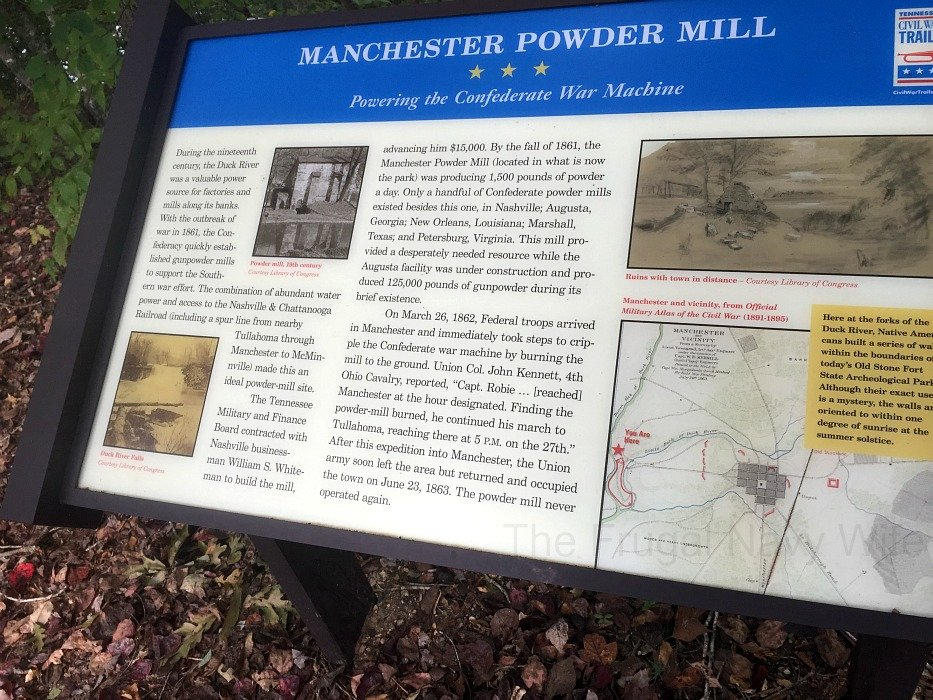 Old Stone Fort State Archaeological Park – Manchester, Tennessee Powder Mill