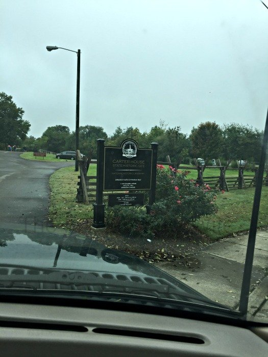 The Carter House – Franklin Tennessee Parking Lot Sign
