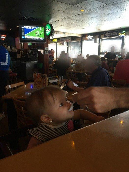 Toot's Restaurant – Murfreesboro, Tennessee Baby Eating
