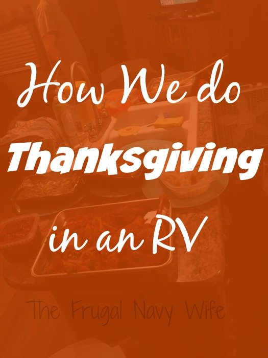 How We do Thanksgiving in an RV