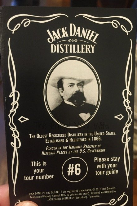 Jack Daniel's Distillery Tour – Lynchburg, Tennessee our Ticket