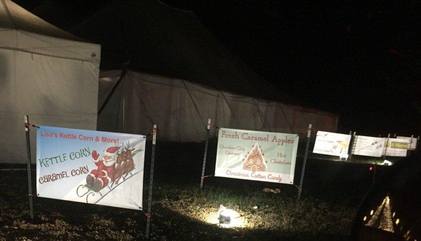 Yogi Bear RV Resort Christmas Light Show – Nashville, Tennessee Food Sign