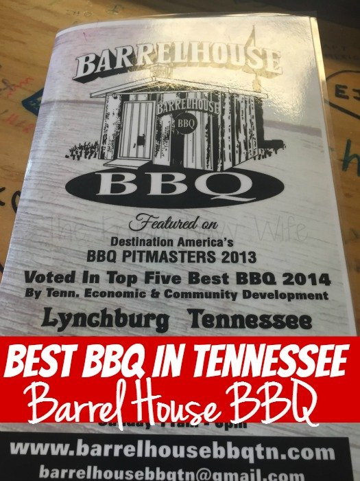 Barrel House BBQ – Lynchburg, Tennessee