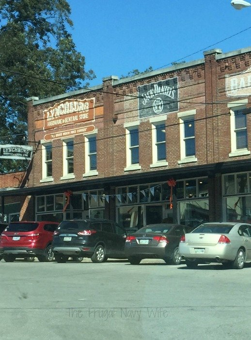 Downtown Lynchburg, Tennessee Brick buildings