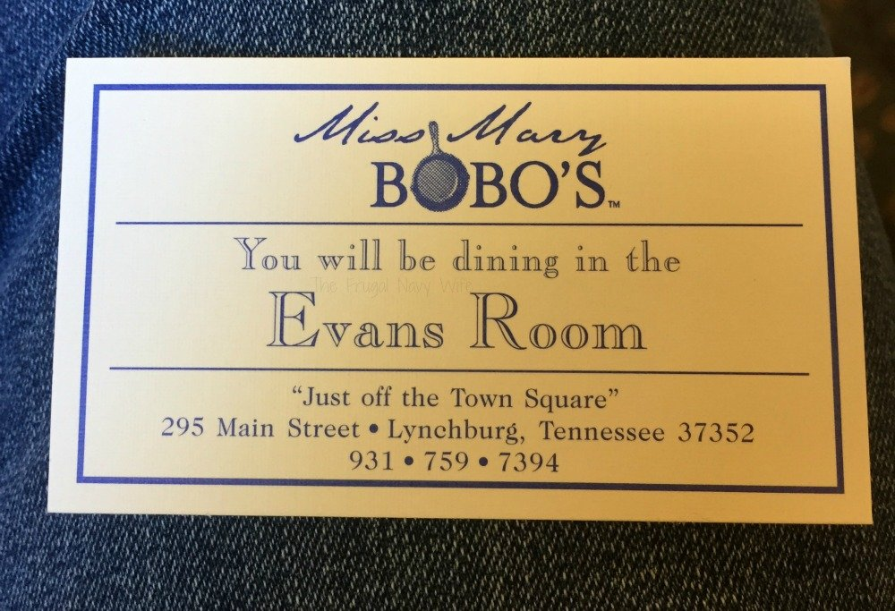 Miss Mary Bobo's Boarding House - Lynchburg, Tennessee Card