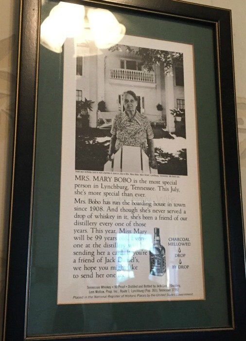 Miss Mary Bobo's Boarding House - Lynchburg, Tennessee Framed Ad