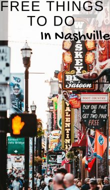 While visiting the Nashville area there is so much to see and take in, make sure to a few of these 45 free things to do in Nashville TN to your list! #nashville #tennessee #thingstodo #ourroaminghearts | Nashville | Tennessee | Things to do in Nashville | Travel Nashville