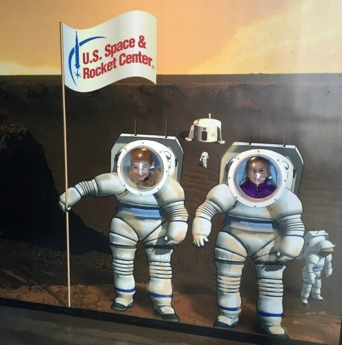 NASA Space Center - Huntsville, Alabama Kids Face Pic