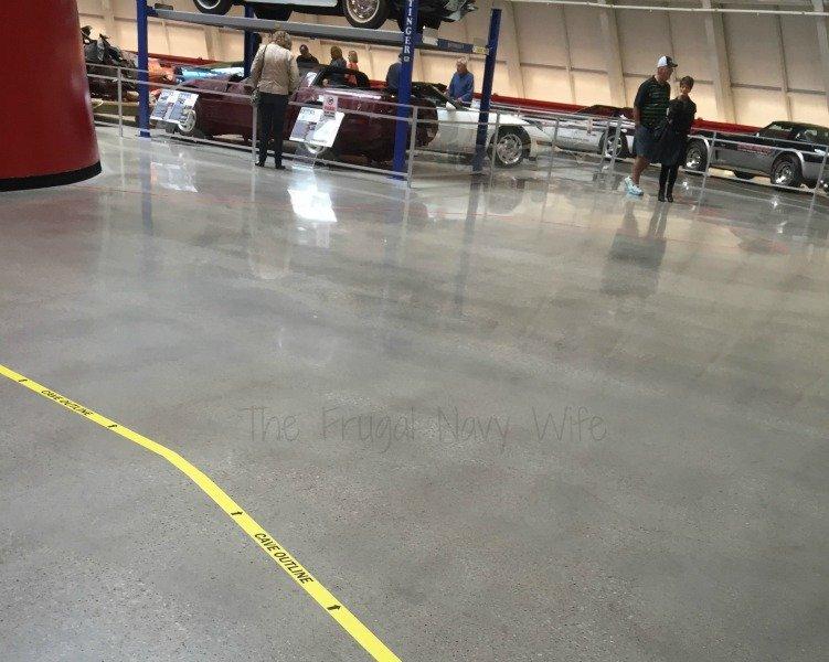 The National Corvette Museum - Bowling Green, Kentucky Sinkhole Outline