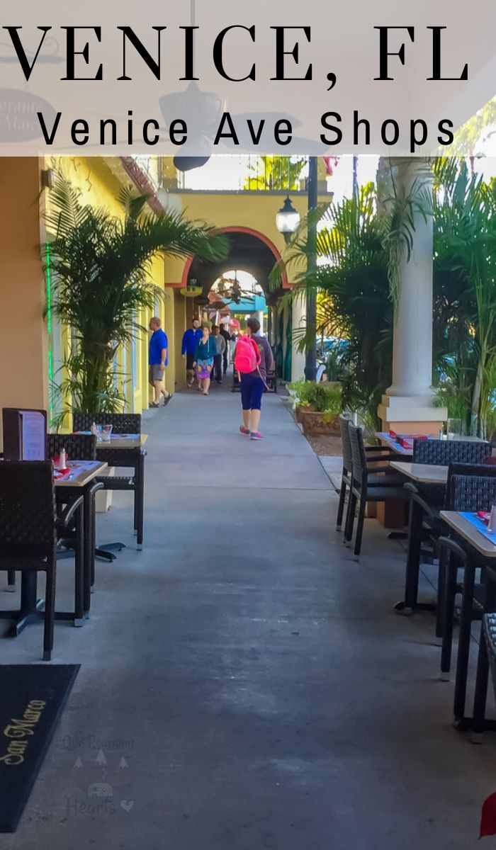 While in Florida take advantage of the nice weather and hit the shops on Venice Ave which is on the Island in downtown Venice. #ourroaminghearts #shopping #venice #florida #veniceaveshops | Florida | Shopping on Venice Ave | Shopping | Venice Florida