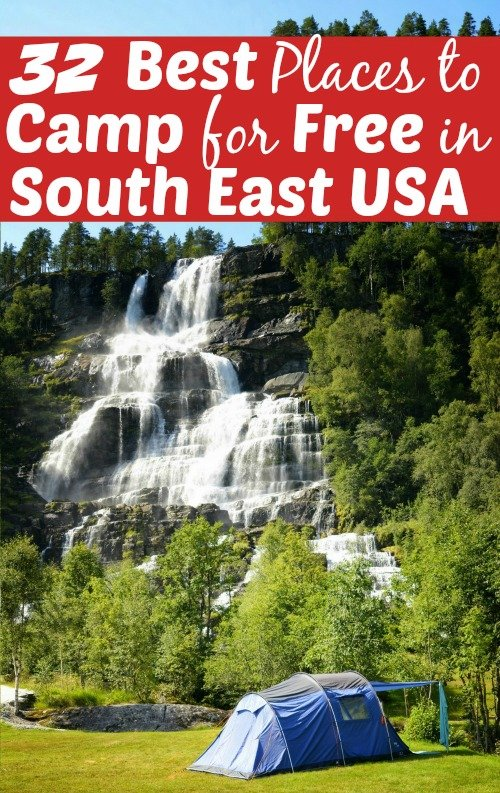 32 of the Best Places for Free Camping in the Southeast USA