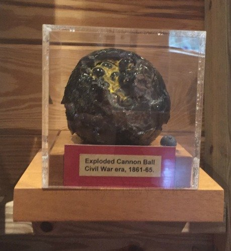 Fort De Soto Park, Historic Fort and Museum - St. Petersburg Florida Exploded Cannon Ball