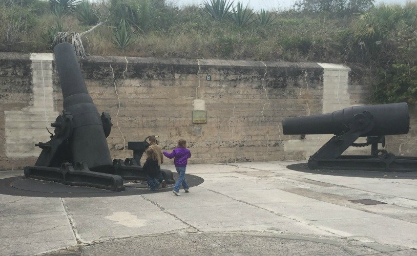 Fort De Soto Park, Historic Fort and Museum - St. Petersburg Florida Interior Cannons
