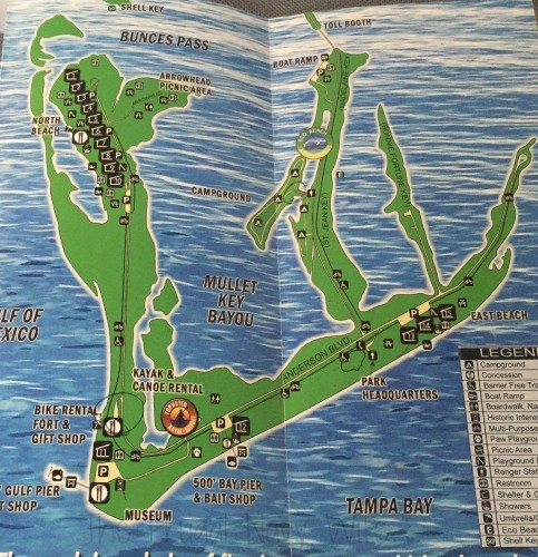 Fort De Soto Park, Historic Fort and Museum - St. Petersburg Florida Park Map