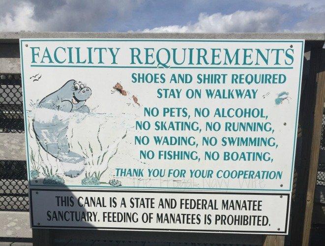 Manatee Viewing Center - Apollo Beach Florida No Boating