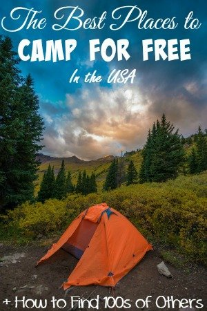 BEST SITES FOR FREE CAMPING IN THE USA