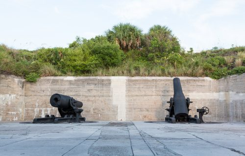 Fort De Soto artillery guns