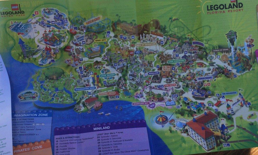 LEGOLAND Amusement Park, Winter Haven Florida Map