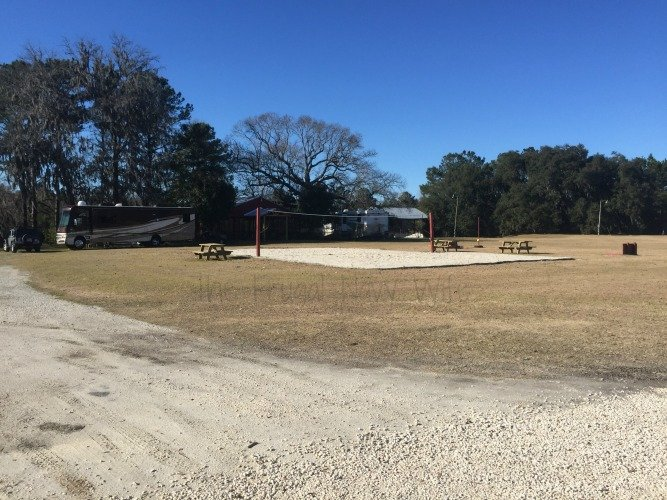 Red Gate Farm Campground Review Savannah, Georgia Volleyball Court