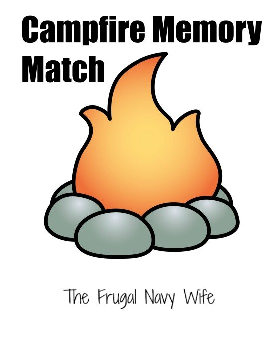 Campfire Games - Memory Match Free Printable Cover