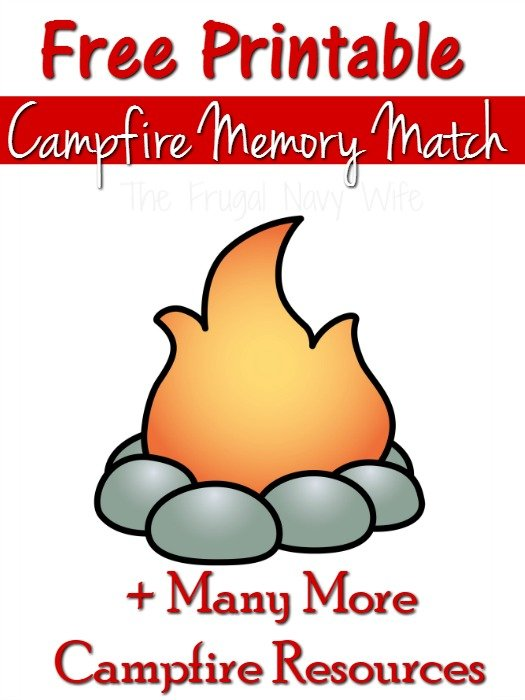 Campfire Games – Memory Match Free Printable