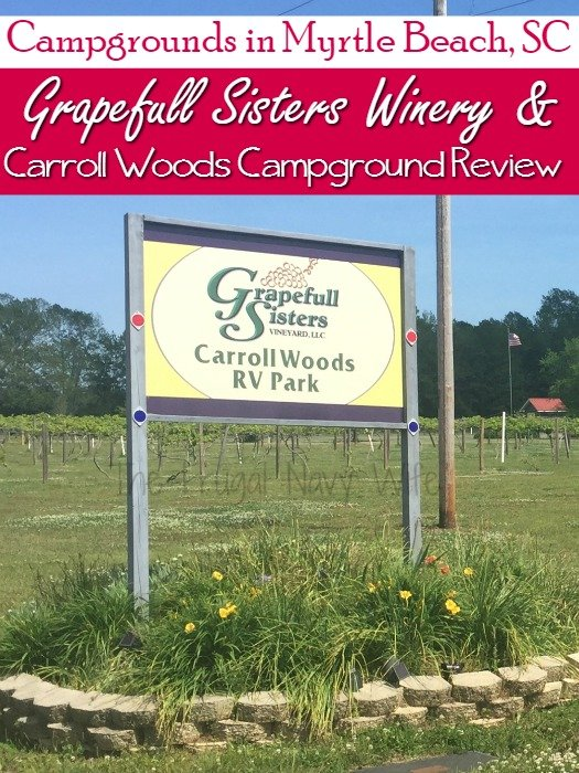 Campgrounds in Myrtle Beach - Grapefull Sisters Winery and Carroll Woods Campground Review