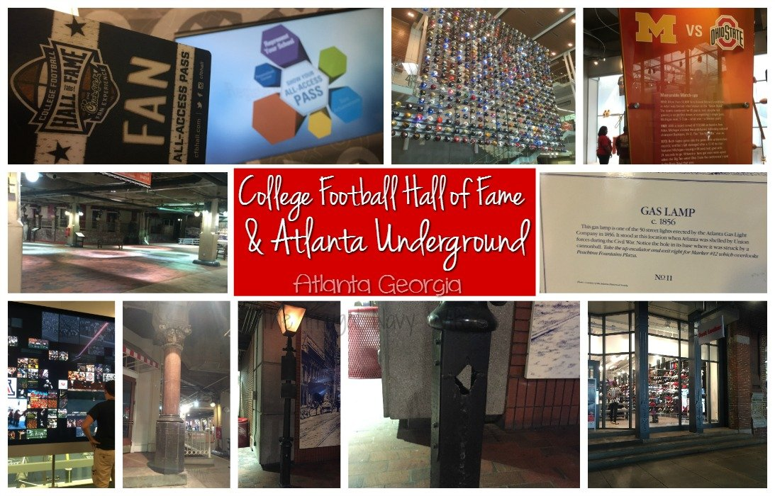 College Football Hall of Fame & Atlanta Underground Atlanta GA