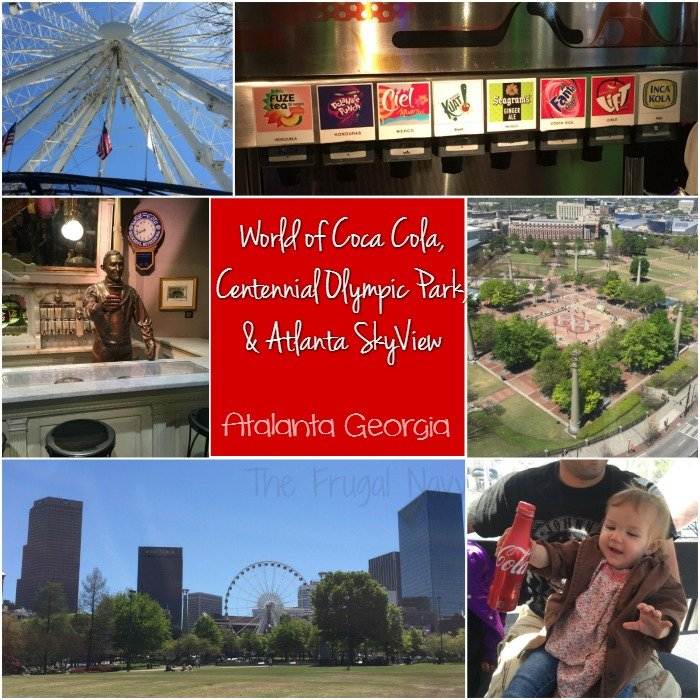 World of Coca Cola, Centennial Olympic PArk and Atlanta SkyView
