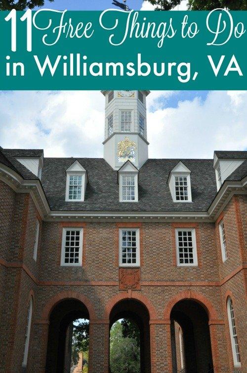11 Free Things to do in Williamsburg Va