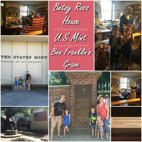 Betsy Ross House - US Mint - Ben Franklin's Grave