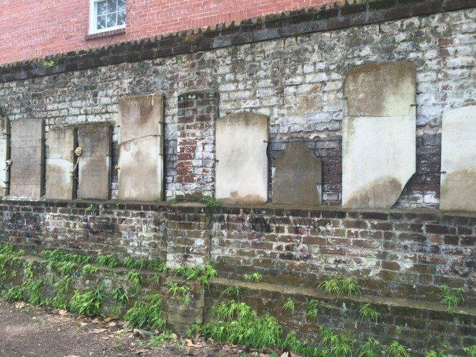 Colonial Park Cemetery Wall - Savannah Georgia