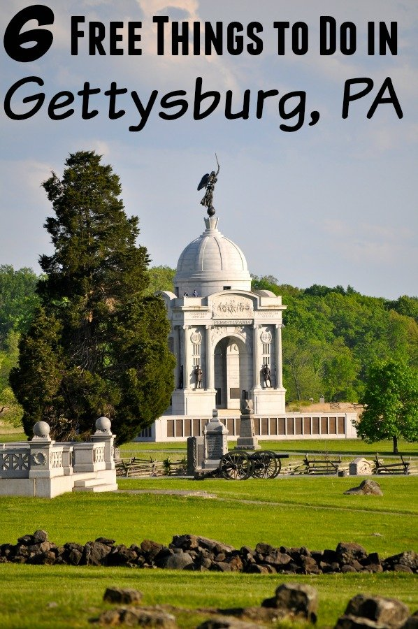 6 Free Things to do in Gettysburg Pa
