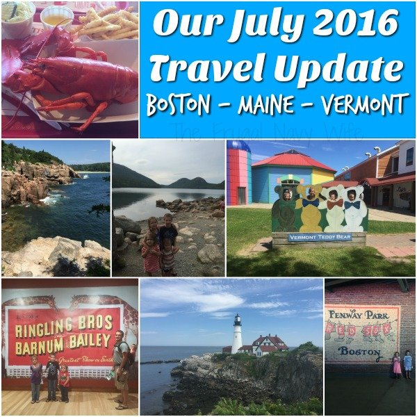 July 2016 Fulltime Travel Update