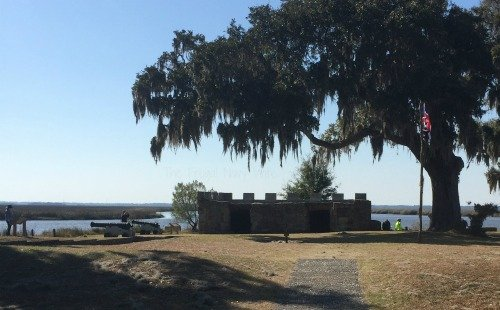 Fort Frederica Ruins in St Simons Georgia