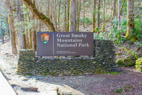 The Great Smoky Mountains National Park Sign