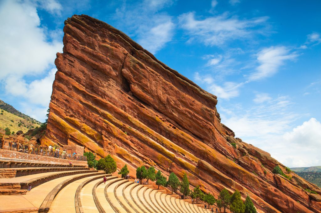 Famous Red Rocks Amphitheater in Denver