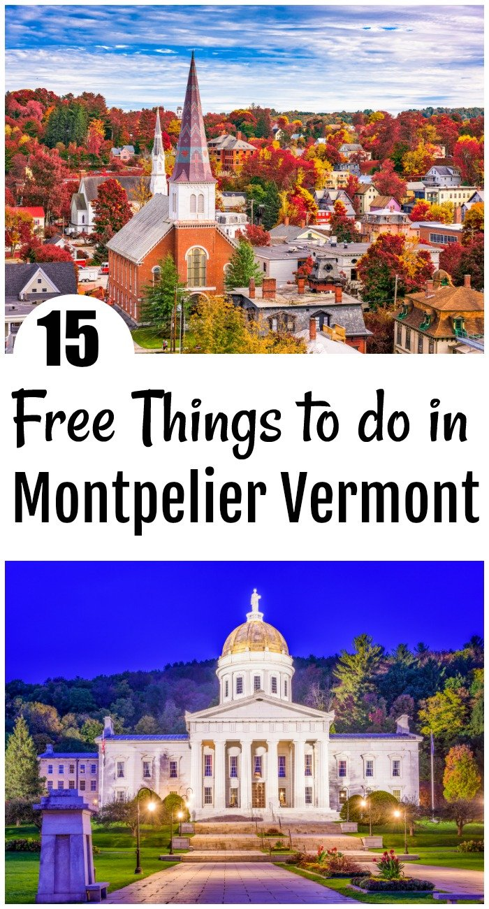 15 of the best free things to do in Montpelier Vermont. Everything from chocolate to maple syrup is covered plus how to have a 1-week vacation for $250 6 people and see 11 of the best attractions. such as Ben and Jerry's to Vermont Teddy Bears and even Cabot Cheese Factory!