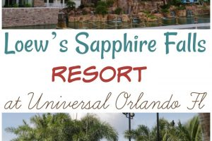 Want the details on Universal's Loew's Sapphire Falls Resort in Universal Orlando Florida? It's a relaxing tropical resort. See my why I love it here..... #loewssapphirefallsresort #universalorlando #florida #ourroaminghearts | Florida Vacation | Universal Orlando | Loew's Sapphire Falls Resort