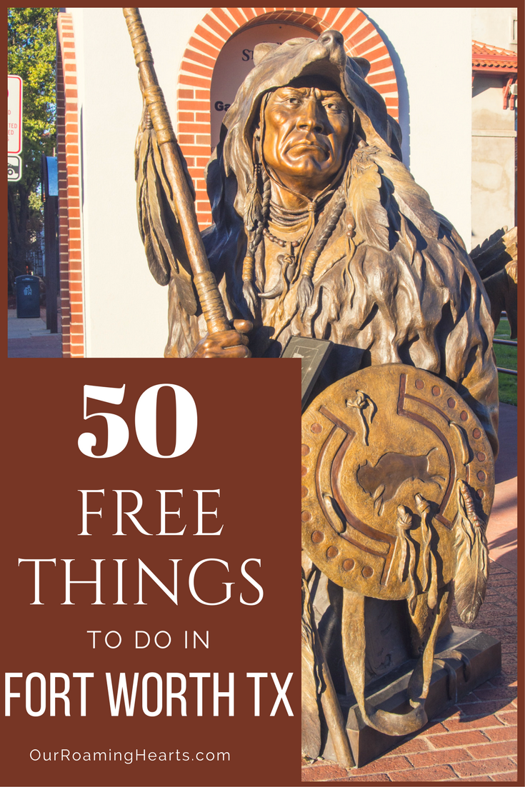 With a Metroplex the size of the state of Rhode Island, there is so much to see & do. Where do you start? Try these 50 free things to do in Fort Worth Texas including a free downtown bus tour. #freethingstodo #OurRoamingHearts #freethings #fortworth #fortworthhistory #texas #VisitTexas #dallasfortworth